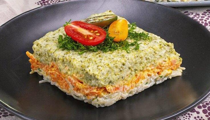 Salade de brocoli tricolore